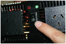 Remove residual power from the capacitors